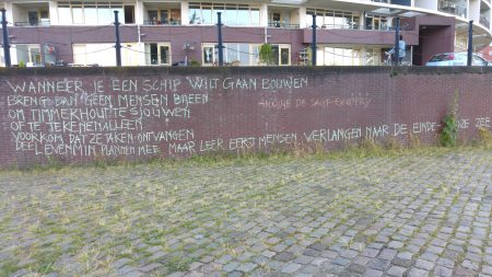 Mooie quote van Kim van den Bemt tijdens haar prachtige voorstelling, DRIP, op het over 't ij festival